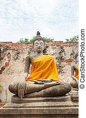 Seated Buddha statue