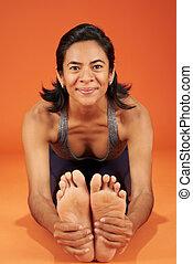 Seated Forward Bend yoga asana pose