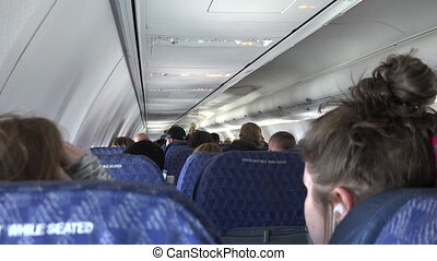 Seated in The Back of The Airplane