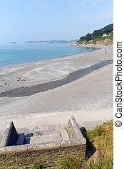 Seaton beach Cornwall UK