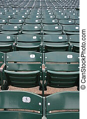 Seats - Empty seats at Wrigley Field, Chicago.