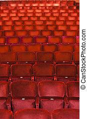 Spectators seats full frame