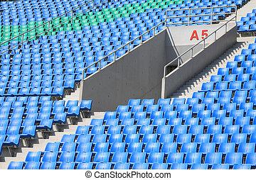seats in a modern sports venues