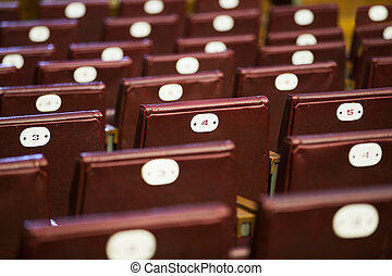 Seats in the auditorium
