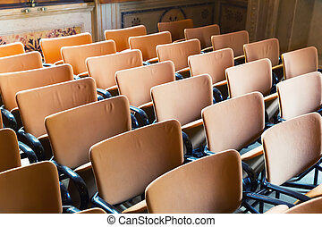 Seats in the hall