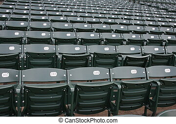 Seats - Empty seats at Wrigley Field, Chicgao.
