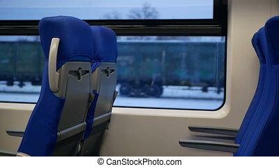 Seats suburban train