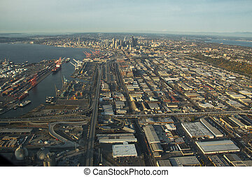 Seattle and Industrial District - Aerial - SoDo and Seattle ...