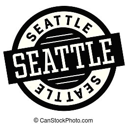 Seattle black and white badge