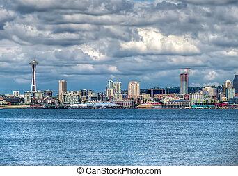 Seattle Cityscape HDR 3