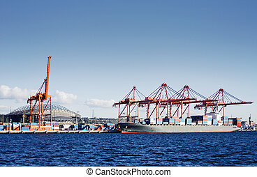 Seattle container terminal - View on the seattle container...