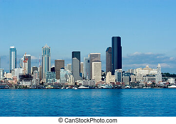 Seattle downtown - Seattle skyline at day