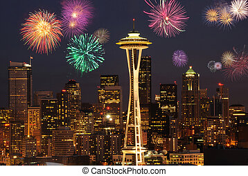 Seattle Fireworks - Beautifully fireworks on 4th of July...