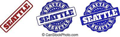 SEATTLE Grunge Stamp Seals