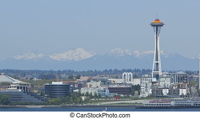 Seattle Mountains with Space Needle