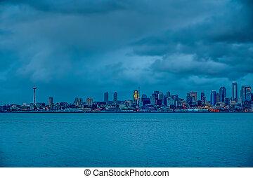 Seattle Night HDR