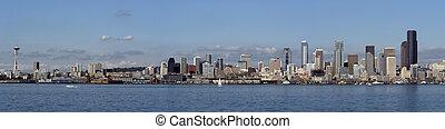 Seattle panorama - Panorama of Seattle, Washington, USA