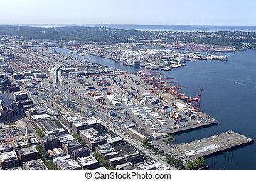 seattle, puerto, washington.