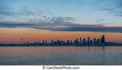 Seattle Skyline Sunset 2
