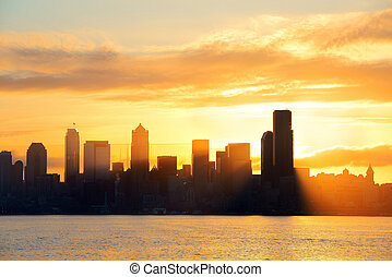 Seattle sunrise