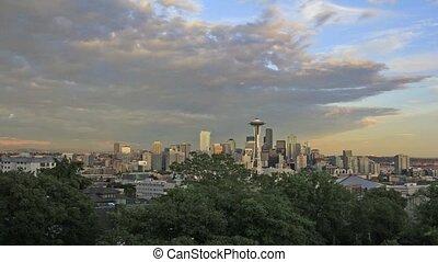 Seattle Washington Cityscape 1080p - Seattle Washington...