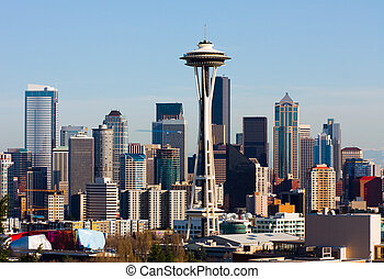 Seattle, Washington  - Skyscrapers in downtown Seattle