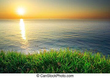 seautiful, coucher soleil