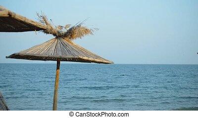 Seaview panorama with sunshade - Seaview panorama with blue...