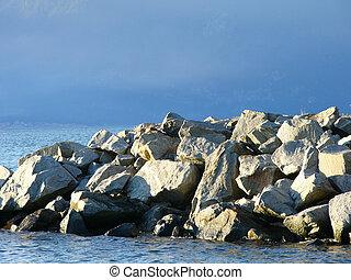 rock on sea