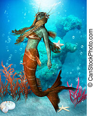 Seawater Mermaid - The Mermaid is a legendary aquatic...