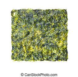 seaweed, fried seaweed on the background