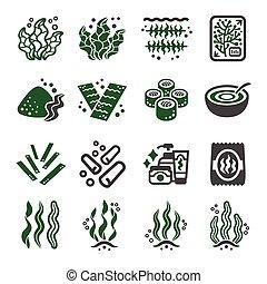 seaweed icon set