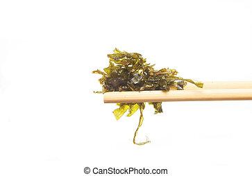 Seaweed in chopsticks