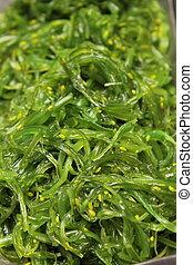 Seaweed Salad, fresh, healthy, organic Japanese food.