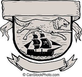 seawolf-RUNNING-SIDE-pirate-ship-BANNER-WC