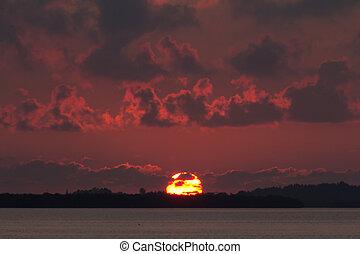 Sebastian cloudy sunrise