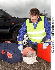 sebesült, autó lezuhan, áldozat