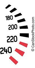 sebességmérő, versenyzés, ikon