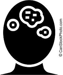 seborrhoeic dermatitis skin disease glyph icon vector ...