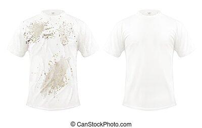 sec, ensemble, après, t-shirt, vecteur, nettoyage,...