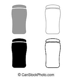 sec, icône, contour, couleur, illustration, vecteur, gris, ...