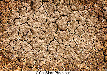sec, naturel, plancher, sol, fond, argile, rouges, texture