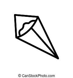 sec, nori, icône, vecteur, contour, illustration