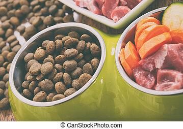 sec, nourriture, naturel, chien