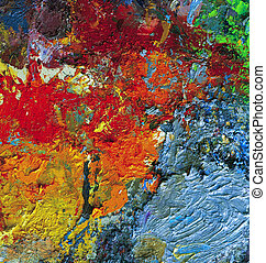 sec, palette, huile, artiste