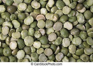 sec, peas., vert, fente, fond