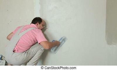 sec, plâtrer, -, amélioration maison