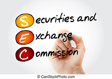 SEC - Securities and Exchange Commission acronym with...