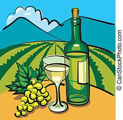 sec, table, vin raisin