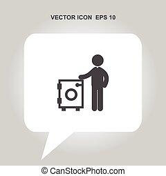 sec, vecteur, lessive, nettoyage, icône